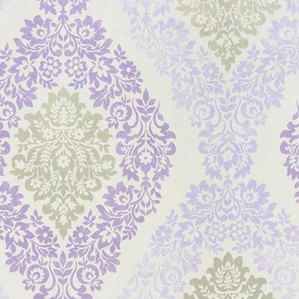 Coral Soft Damask Wallpaper White Lilac Silver by GranDeco Galerie 600x600