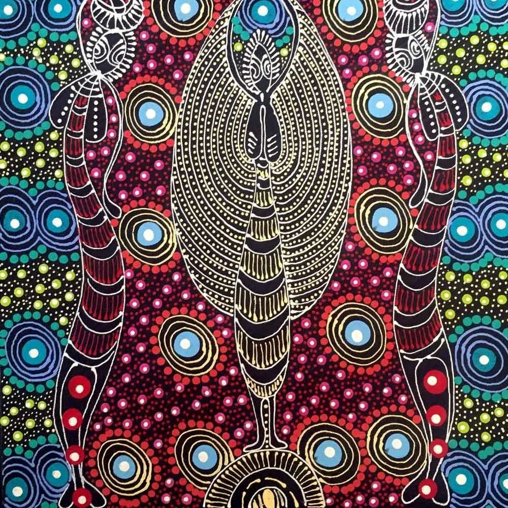 Dreamtime Sisters by Colleen Wallace Nungari SOLD Aboriginal 1000x1000