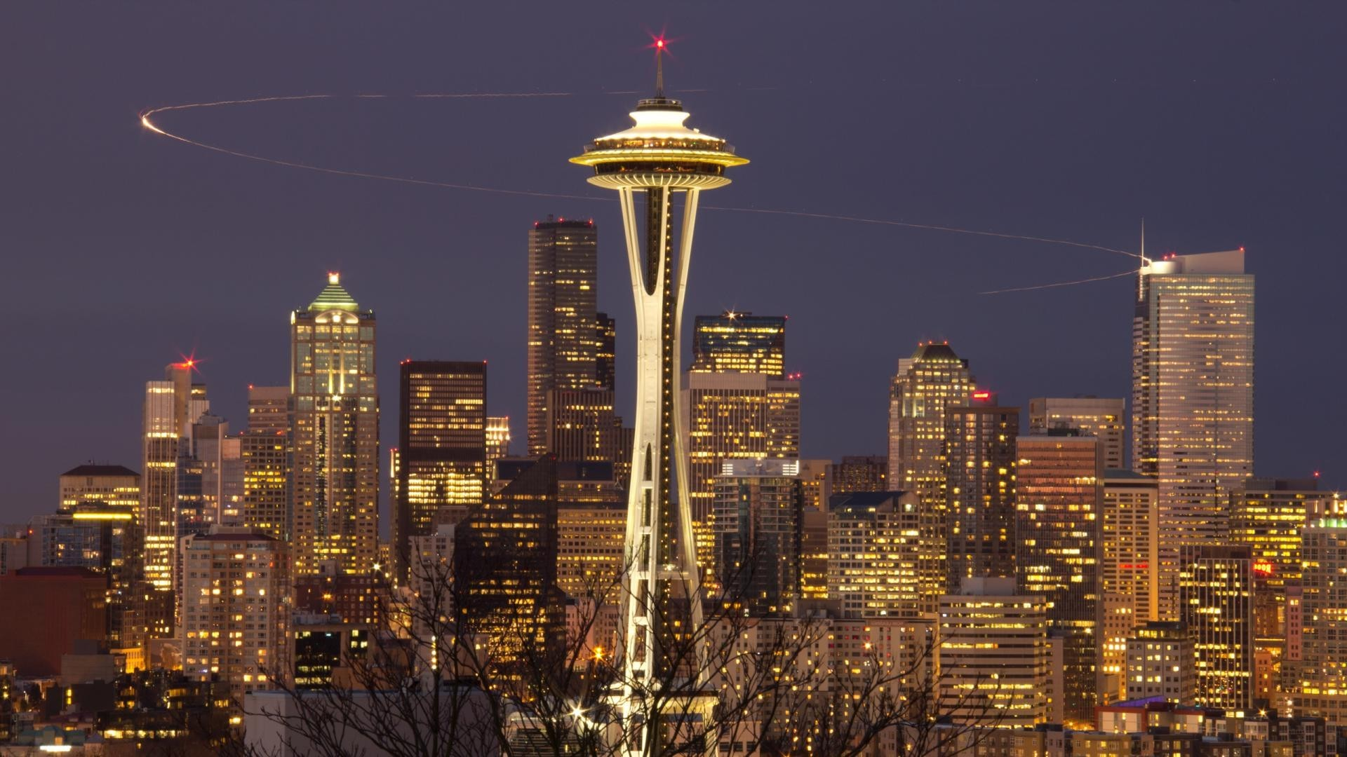 Space Needle Seattle wallpaper 1920x1080