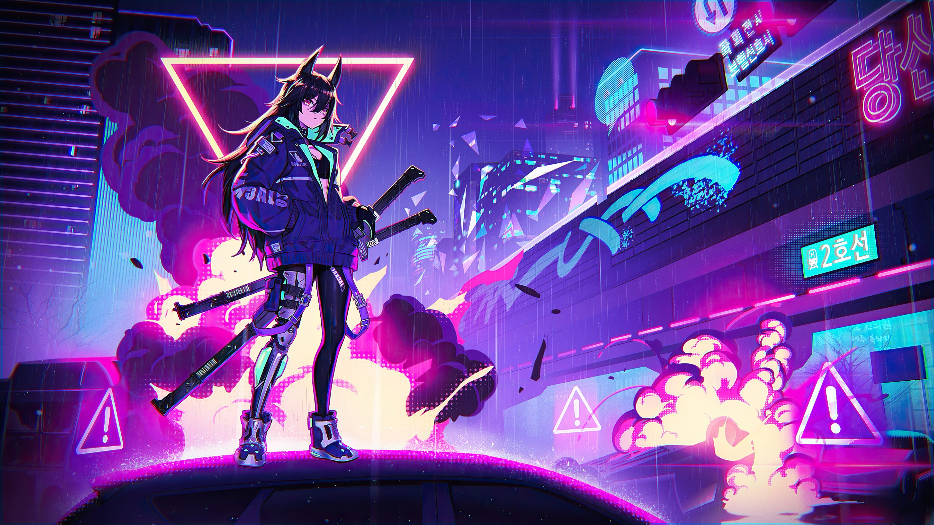 Neon Anime Wallpapers   Top Neon Anime Backgrounds 3840x2160