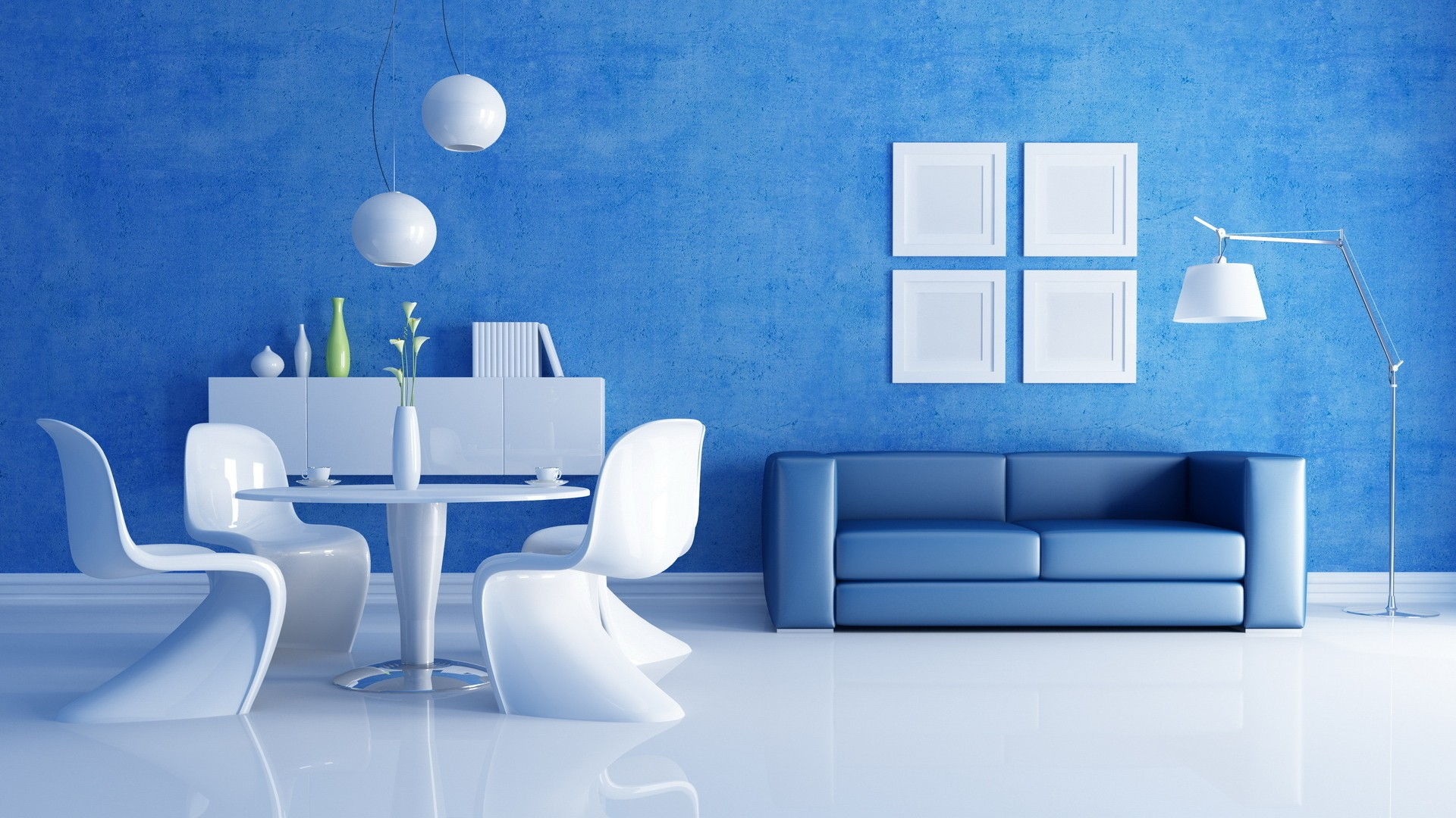 Latest Blue And White Interior Design wallpaper in Other wallpapers 1920x1080