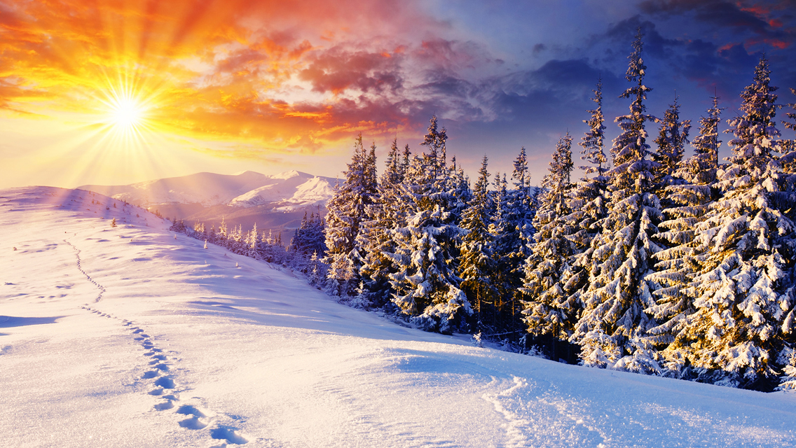 Winter Sunset HD Wallpapers for iPhone Wallpapers Highdefination 1136x640