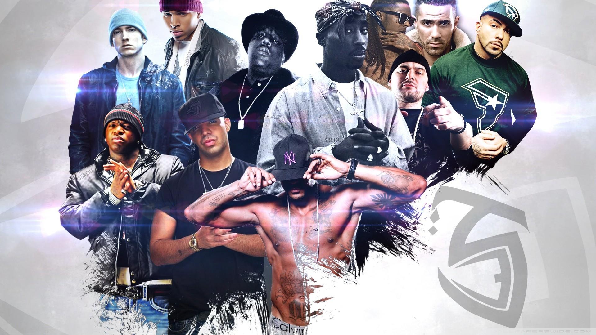rap 2pac Eminem Lil Wayne Notorious BIG rapper Chris 1920x1080