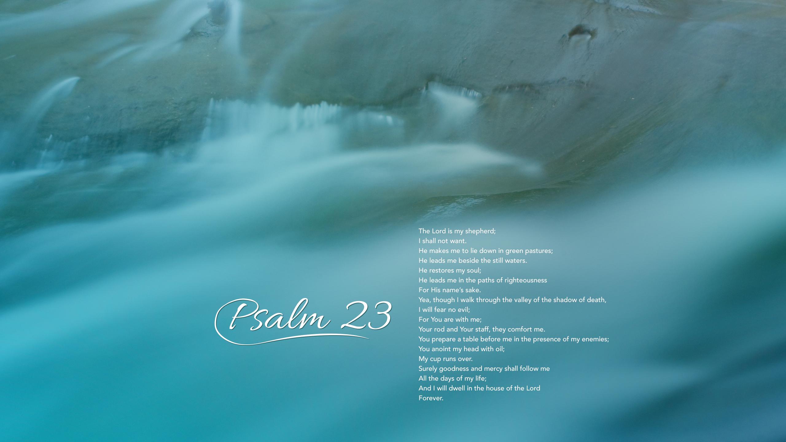 Psalm 23 Psalm Bible Christianity Religion 2560x1440 2560x1440
