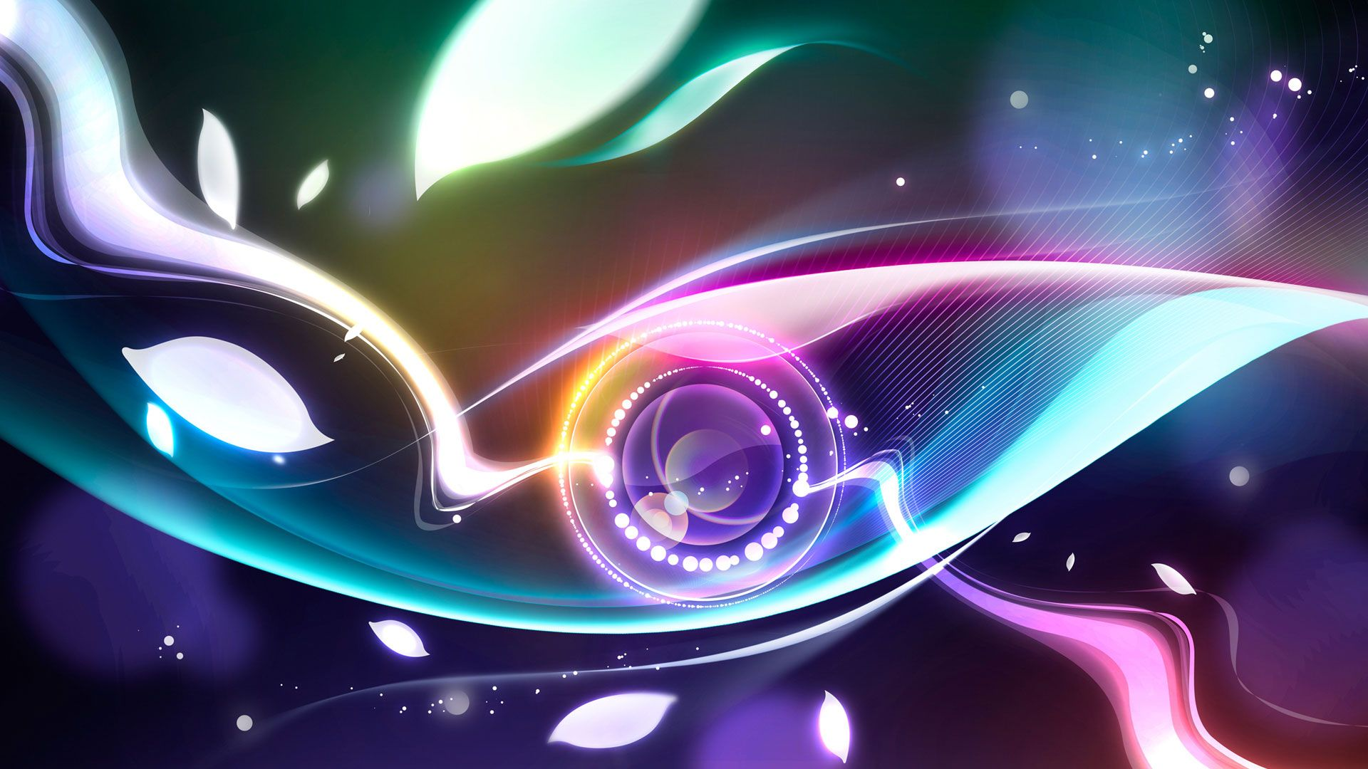 HD Wallpapers Widescreen 1080P 3D Digital Abstract Eye 1920x1080