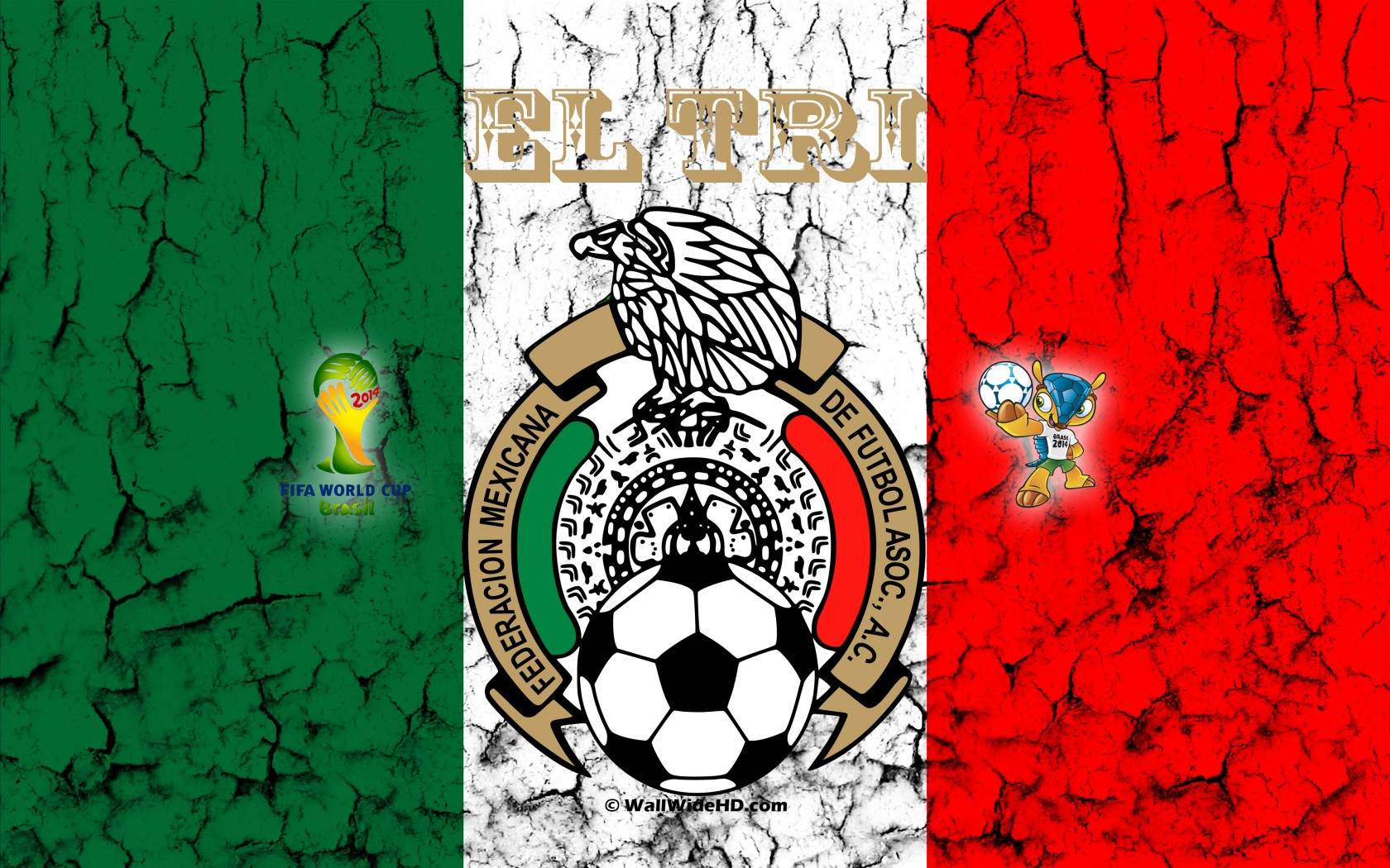 Mexico Football Crest Logo World Cup Wallpaper Wide or HD   Football 1680x1050