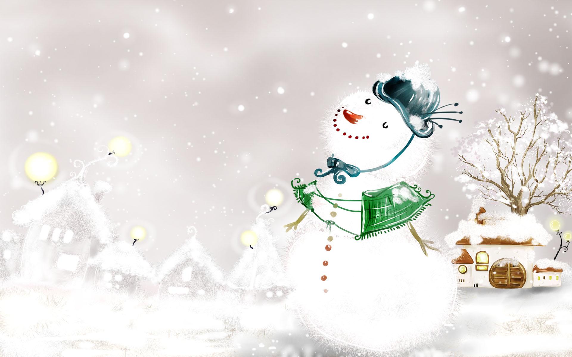 Winter Snowman Screensavers   HD Wallpapers 1920x1200