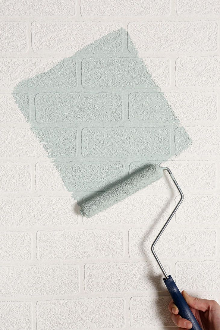 Graham Brown Brick Wall Paintable Wallpaper get the look of painted 730x1095