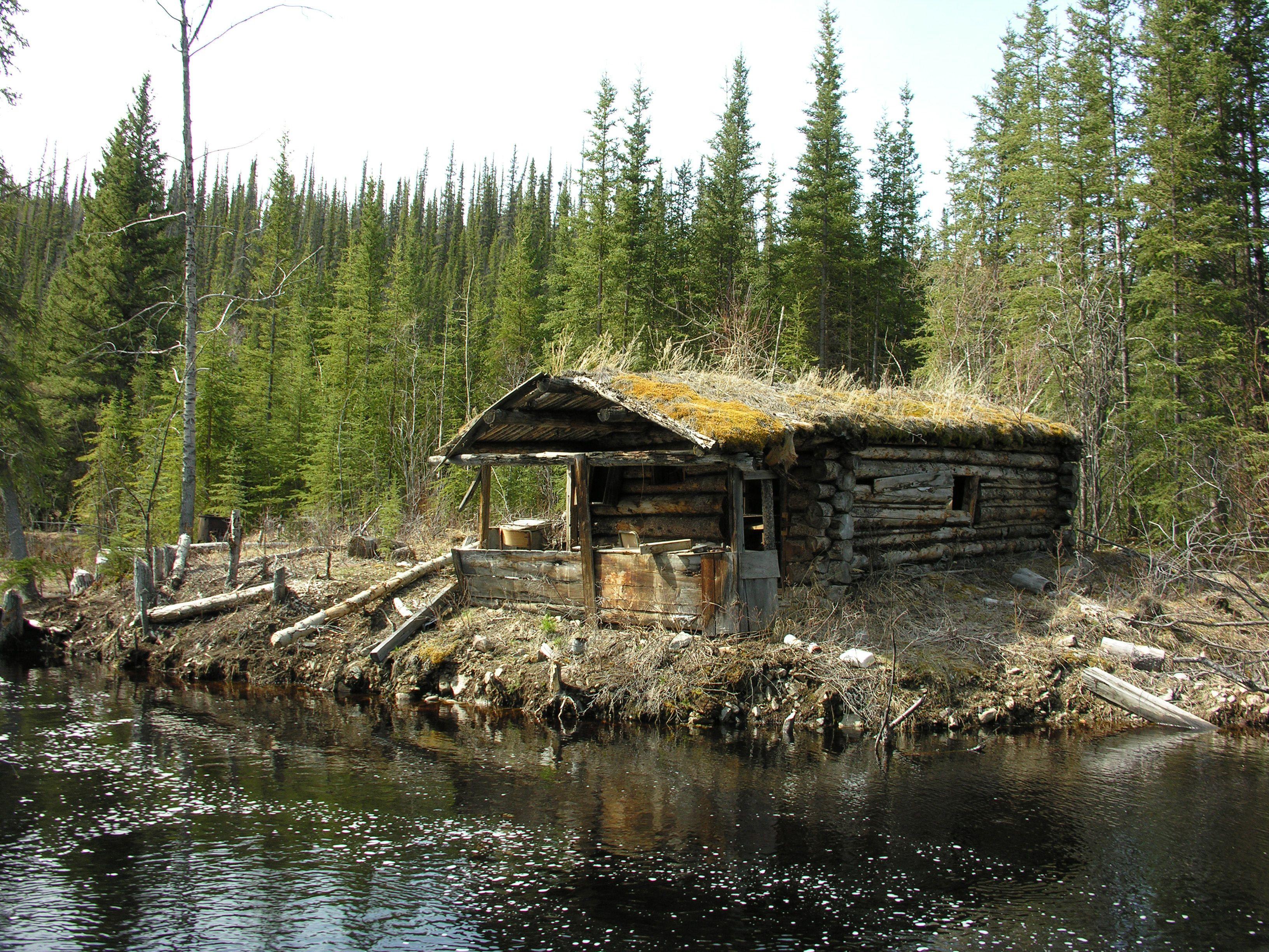 Old Log Cabin cabin forest log cabin old river trees woods 3264x2448