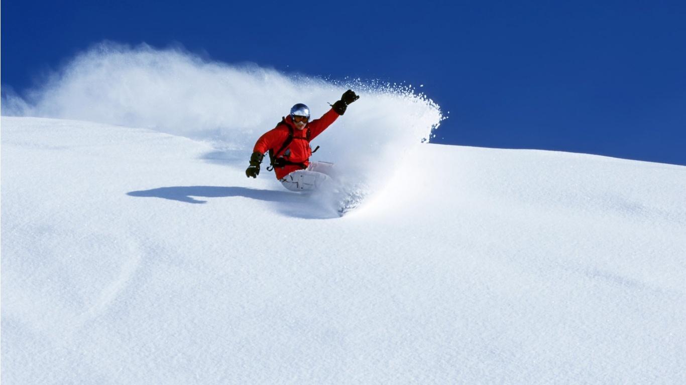 сноубордист прыжок горы  № 3300667 без смс