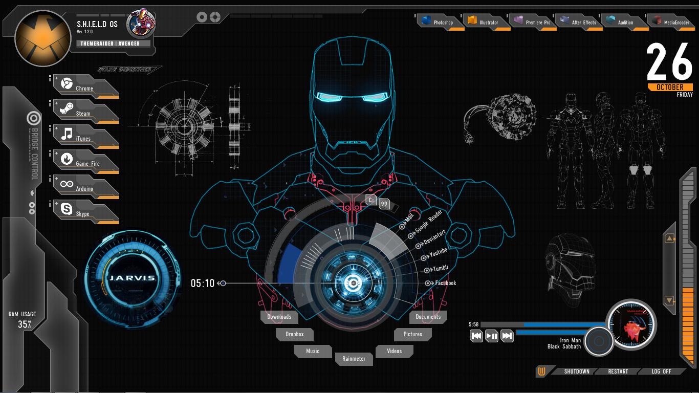 Iron Man Theme for Windows 1366x768