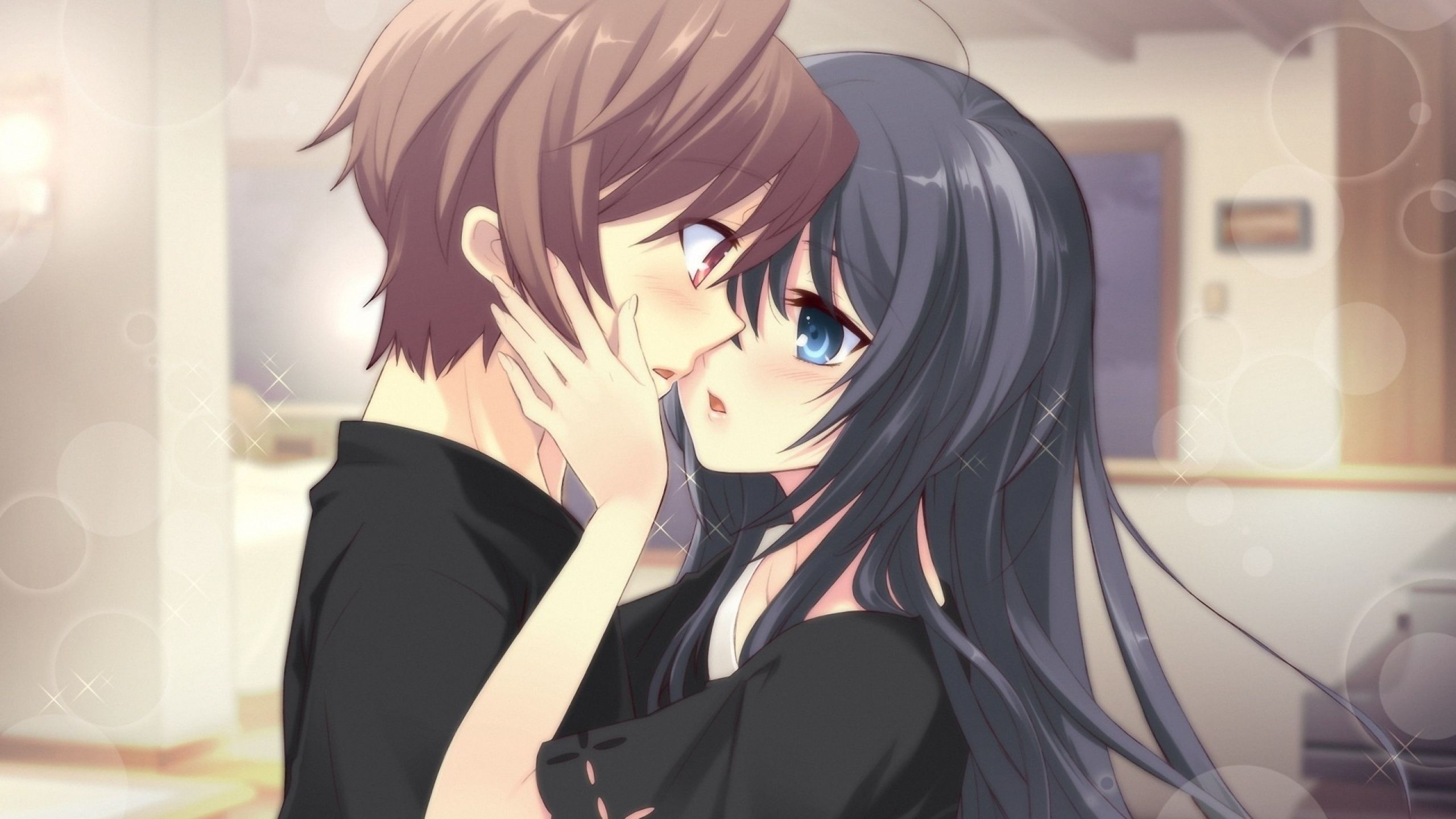 Cute Anime Couple Wallpaper Download Wallpapers 2560x1440