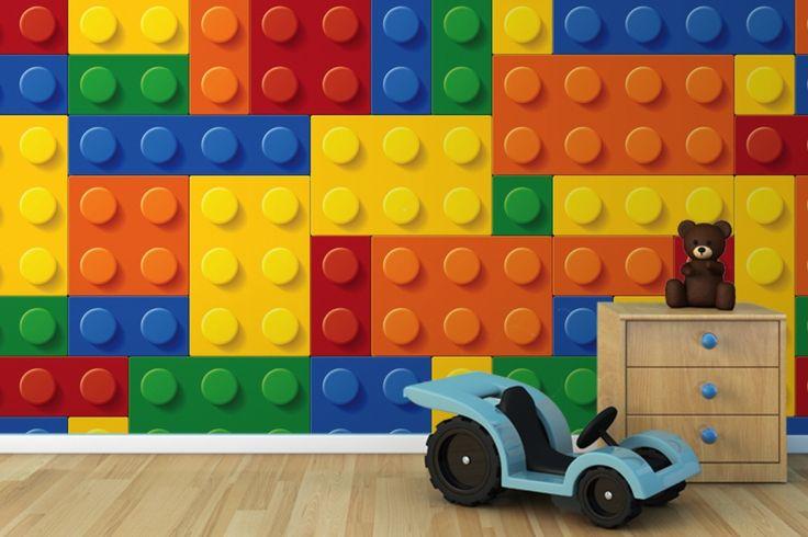 Bedrooms Muralswallpaper Co Uk Lego Wallpapers KidsS Lego Room Jpg 736x490