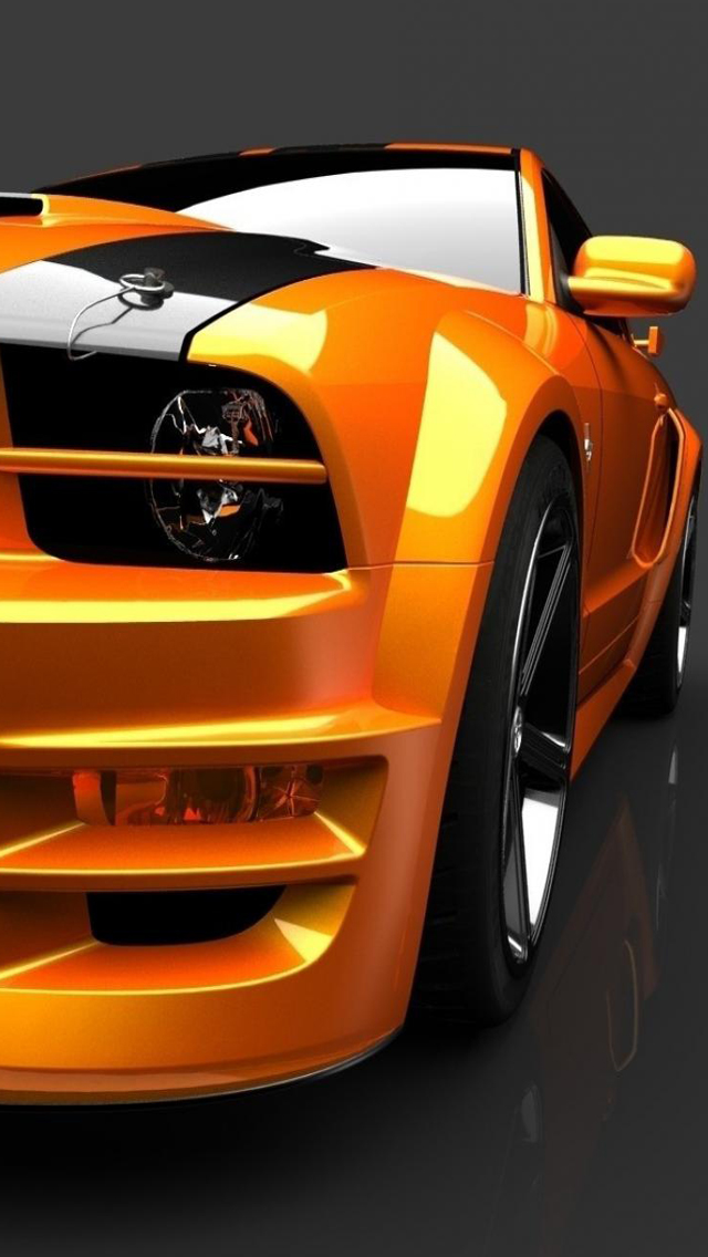 2013 Ford Mustang iPhone 5 Wallpaper 640x1136 640x1136