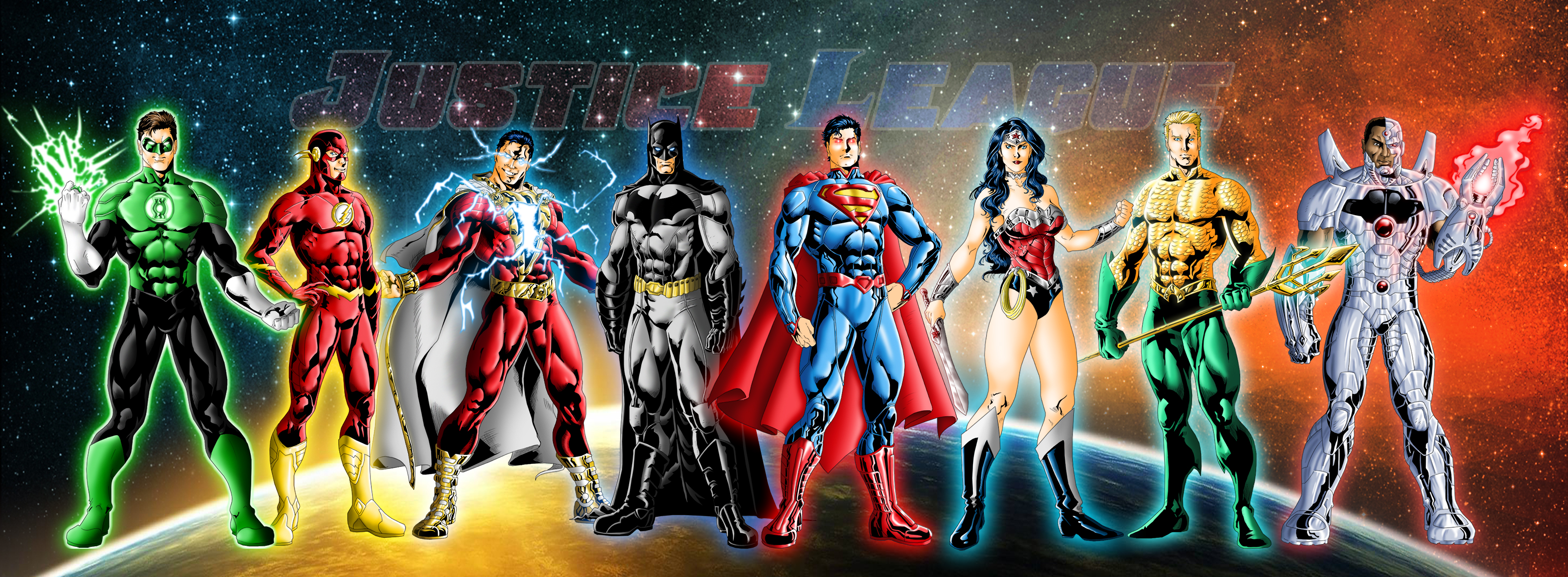 New 52 Justice League by JeanSinclairArts 3120x1148