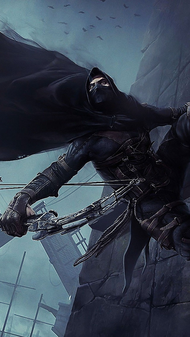 video game 2014 iphone wallpaper tags 2014 bow game ps4 thief video 640x1136