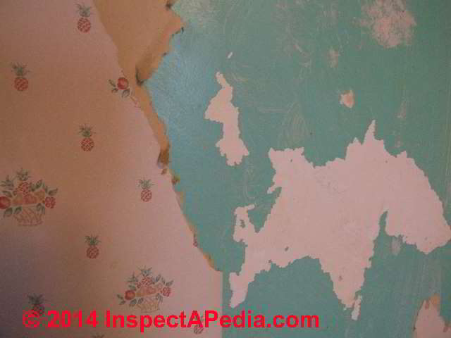 Peeling paint wallpaper possibly lead paint arsenic hazards C 640x480