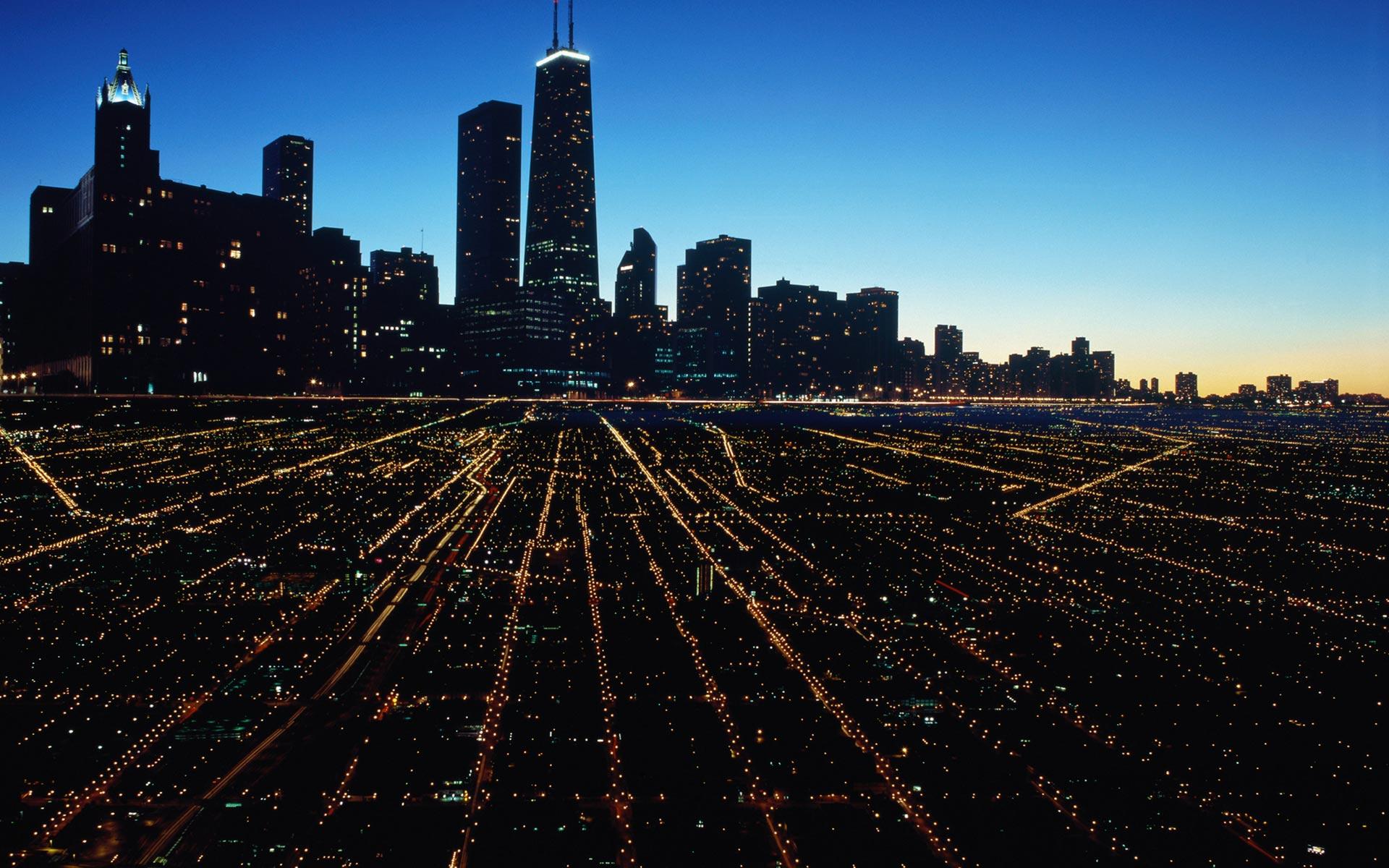Ночной порт в Чикаго  № 3504486 без смс