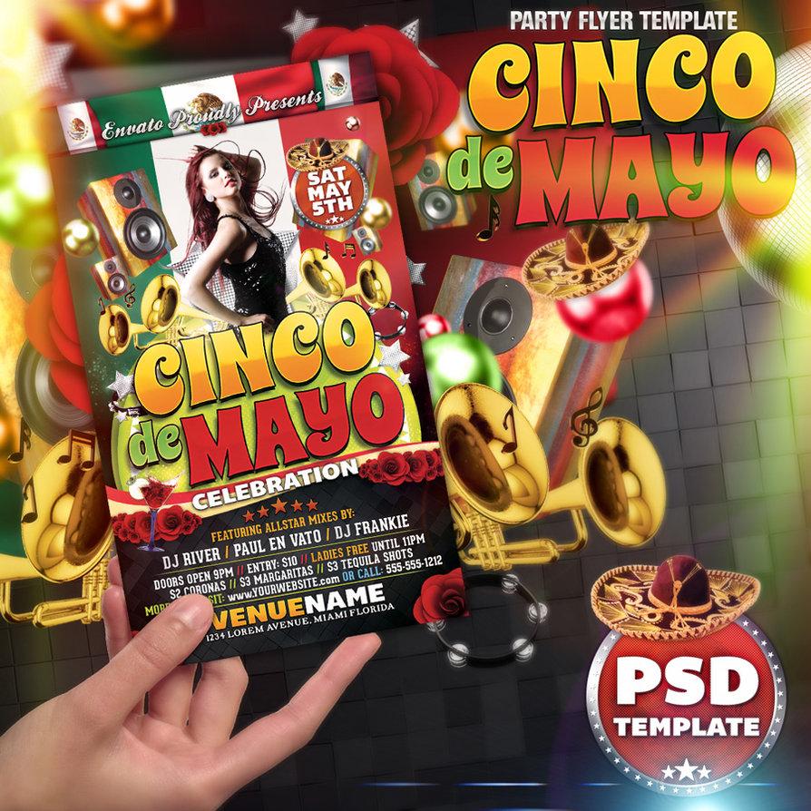 Cinco De Mayo Party Flyer by deiby 894x894