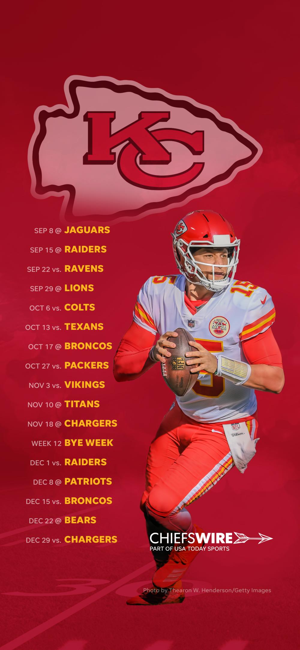2019 Kansas City Chiefs Schedule Downloadable Wallpaper 1000x2164