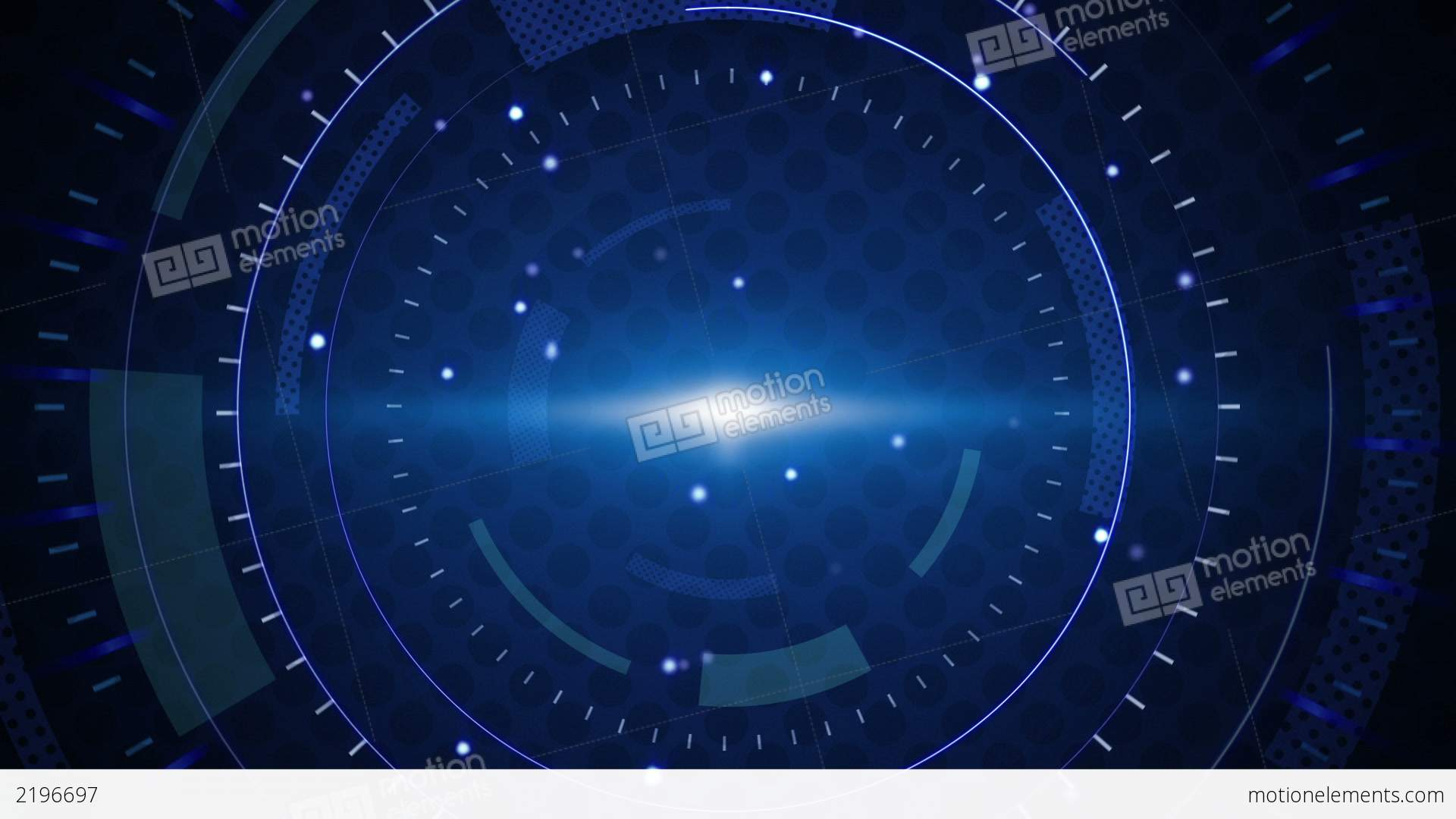 Blue Techno Circles Loop Background Stock Animation 1920x1080