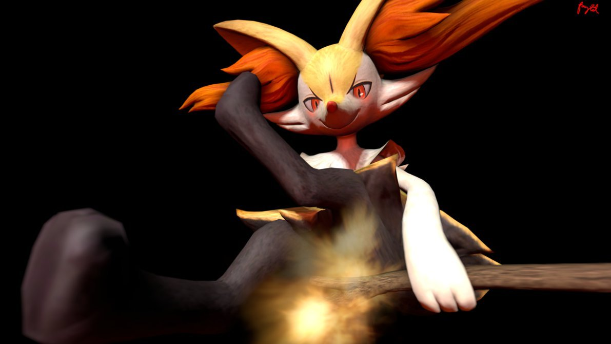 Braixens Flamethrower by fruztal 1191x670