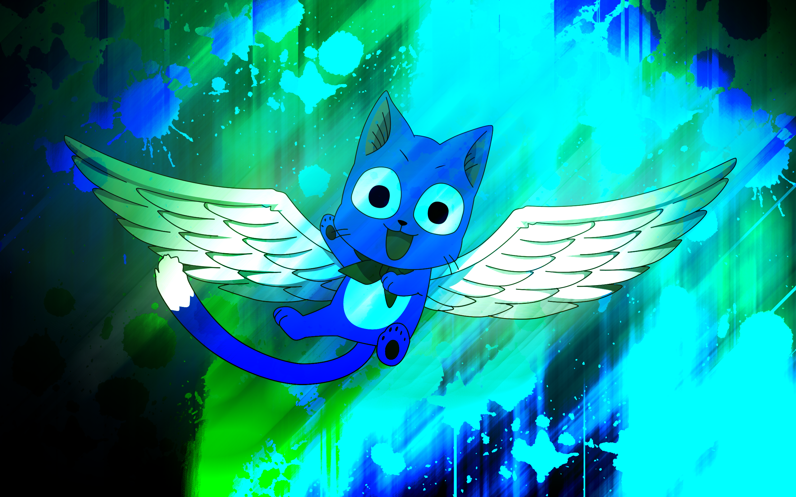 Fairy Tail Happy the Exceed Wallpaper by EnemyD 2560x1600