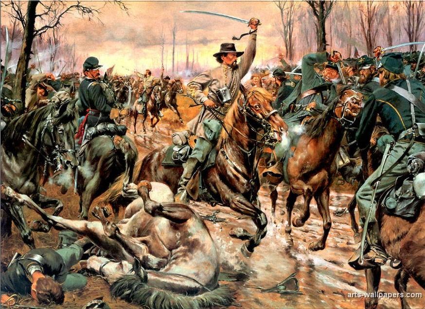 American Civil War Paintings Art Prints Gallery Pictures Artworks 874x637