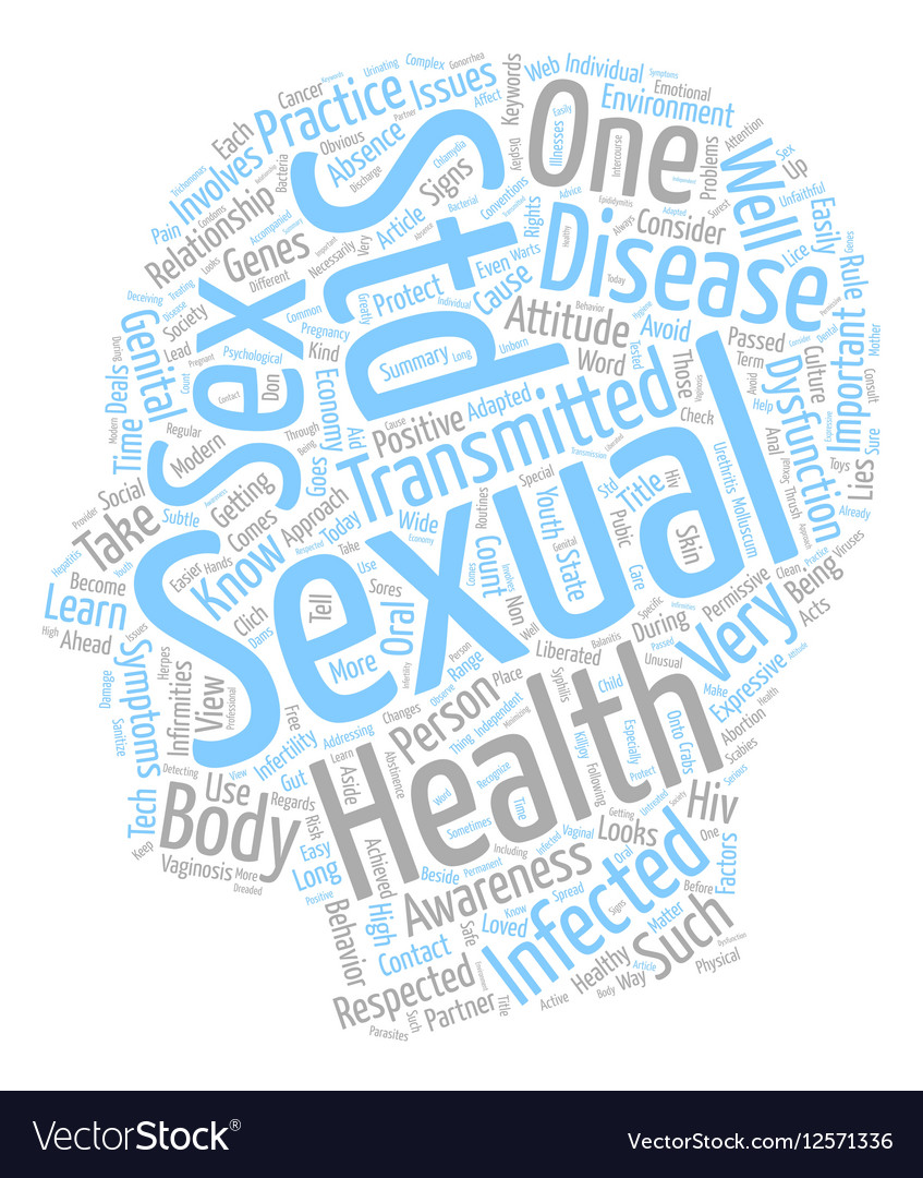 Sexual Health Awareness and You text background Vector Image 847x1080