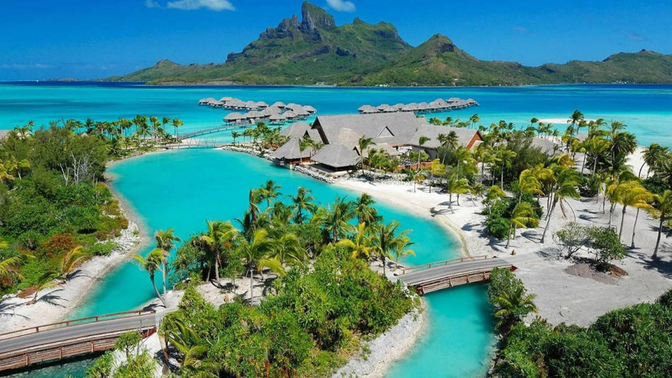 Bora bora paradise island tahiti french polynesia   160320   High 1366x768