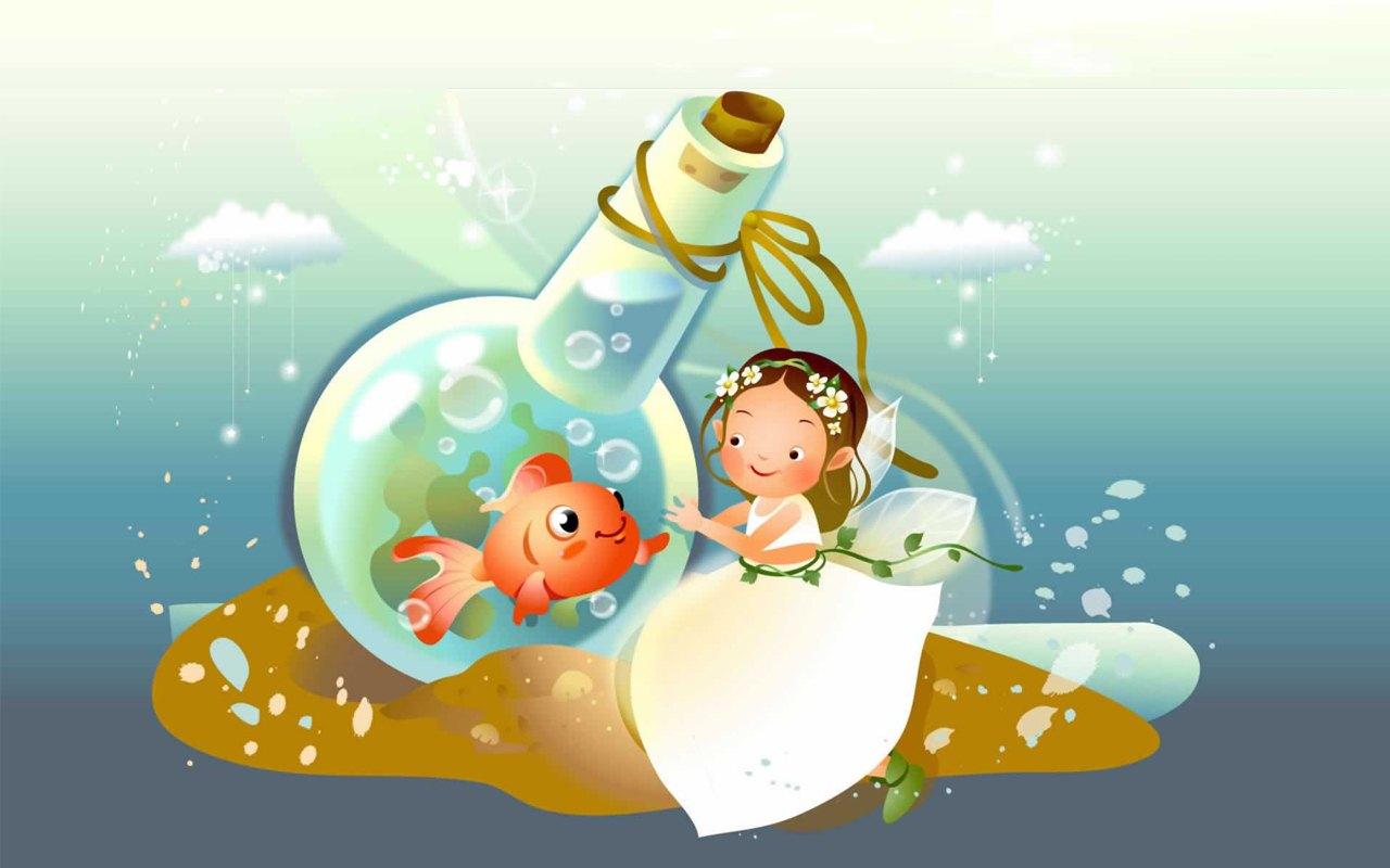 48 animated fairy wallpaper on wallpapersafari - Cartoon girl images hd ...