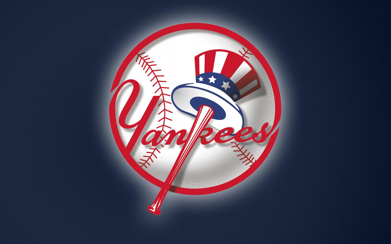 Yankees Logo on Blue 1440x900