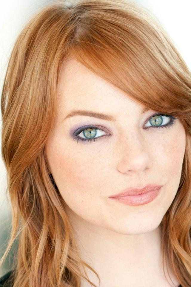 Wedding Eye Makeup For Redheads : Emma Stone iPhone Wallpaper - WallpaperSafari