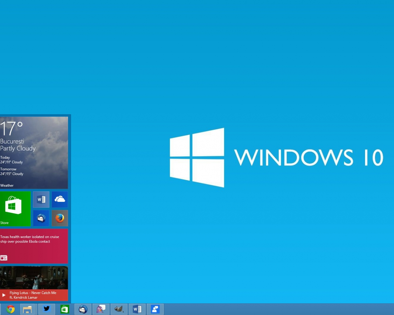 download Windows 10 Microsoft Operating System fake desktop 1280x1024