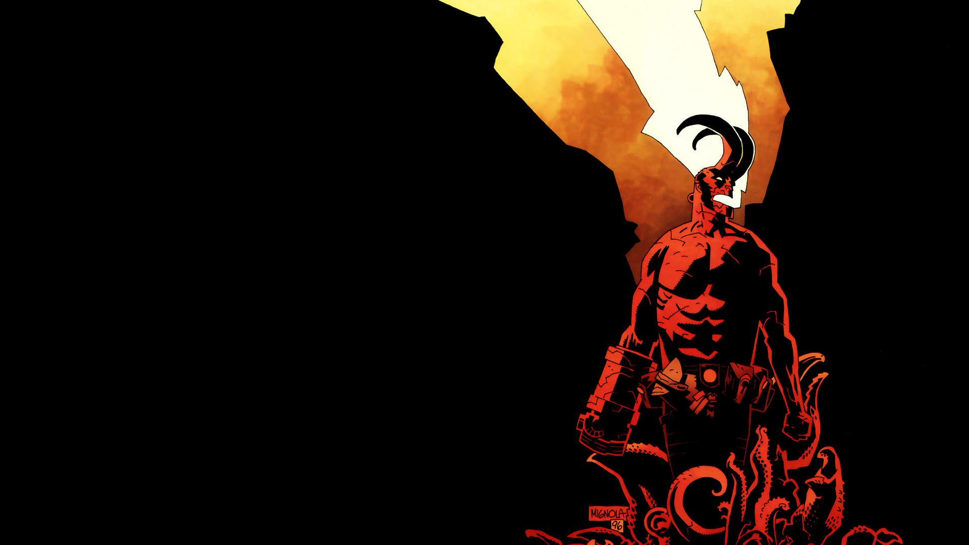 Hellboy Computer Wallpapers Desktop Backgrounds 1920x1080
