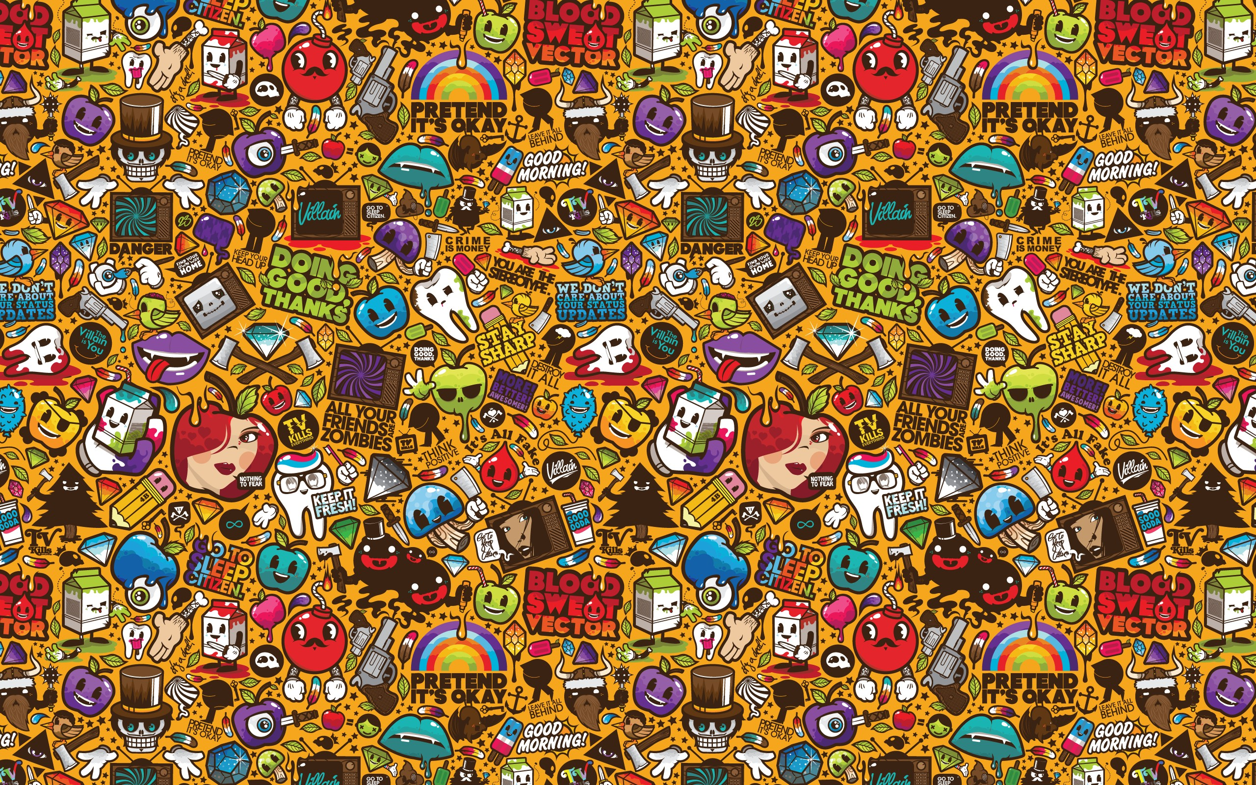 11 Pop Art HD Wallpapers Background Images 2560x1600