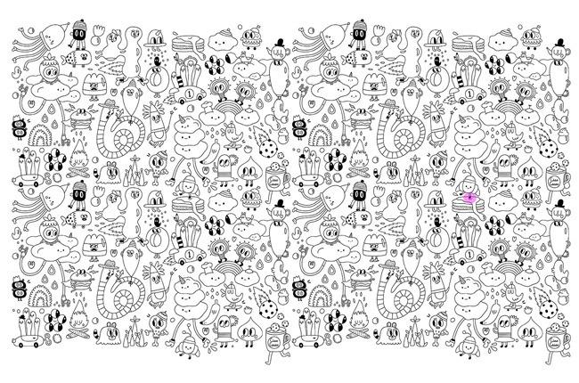 funky doodles color in wallpaper