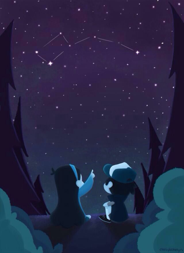 Awesome GRAVITY FALLS Dipper and Mabel looking at the little 640x878
