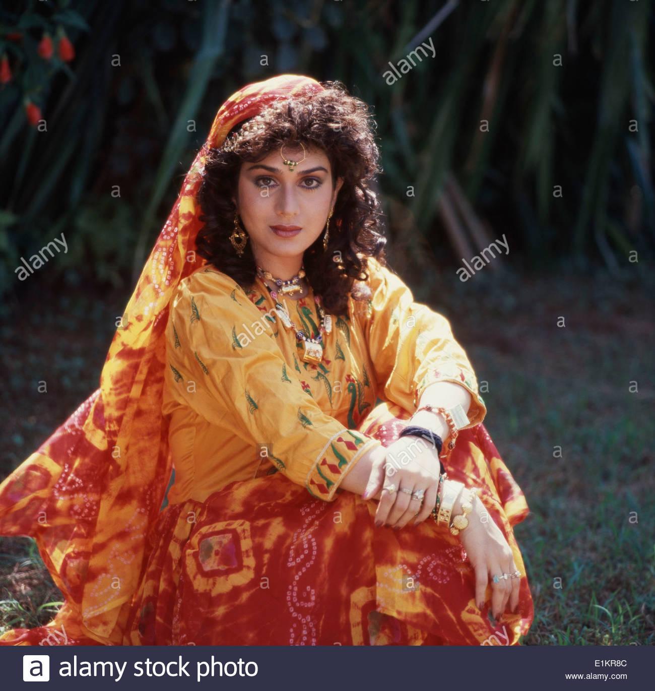 Portrait Meenakshi Sheshadri Indian Film High Resolution Stock 1300x1371