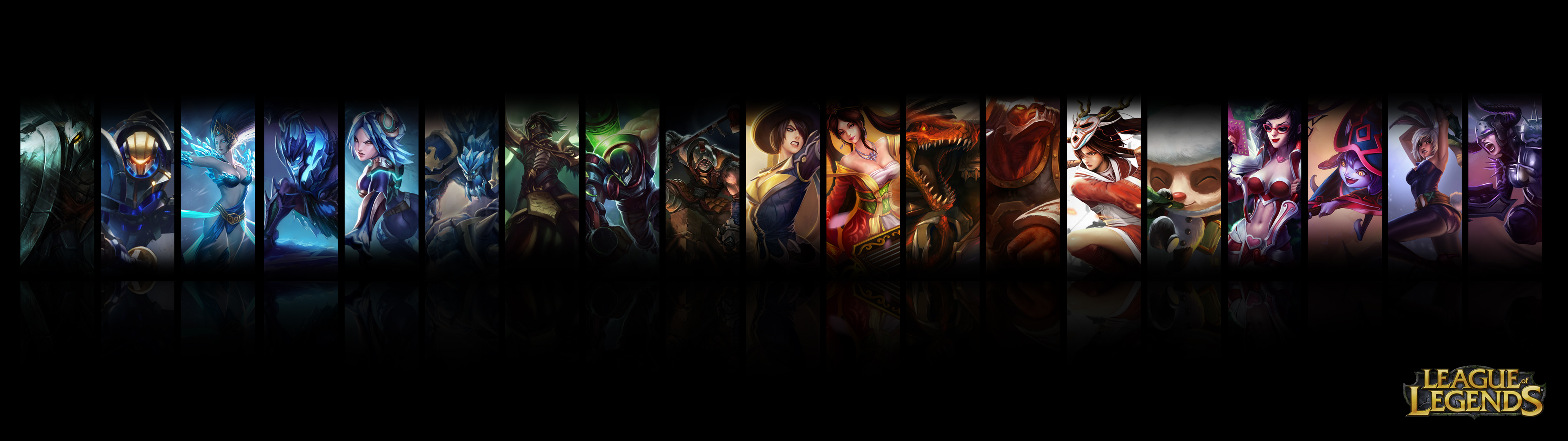 league of legends dual screen wallpaper by jrkdo fan art wallpaper 3840x1080