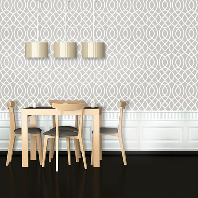 Woven Trellis Wallpaper 95feet   Contemporary   Wallpaper   by Swag 640x640