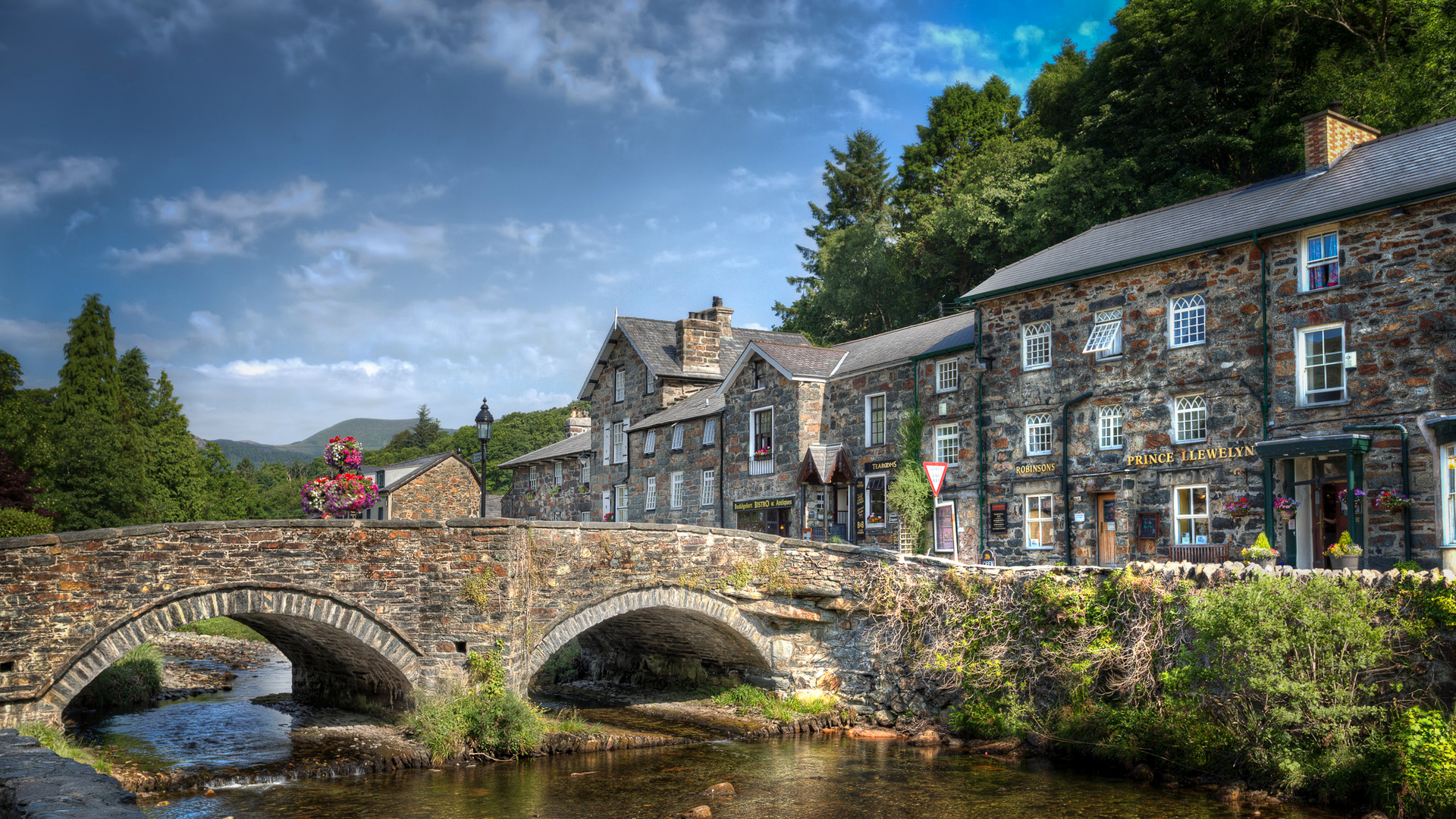 Man Made   Beddgelert Wales Beddgelert Bridge Wallpaper 1920x1080