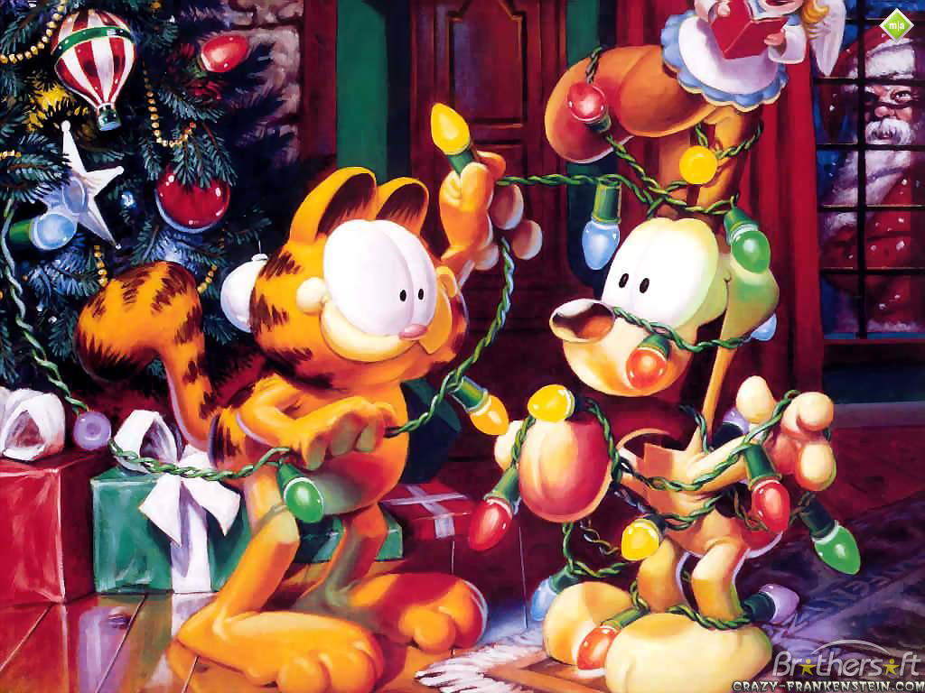 Garfield Christmas Wallpaper Garfield Christmas Wallpaper Download 1024x768
