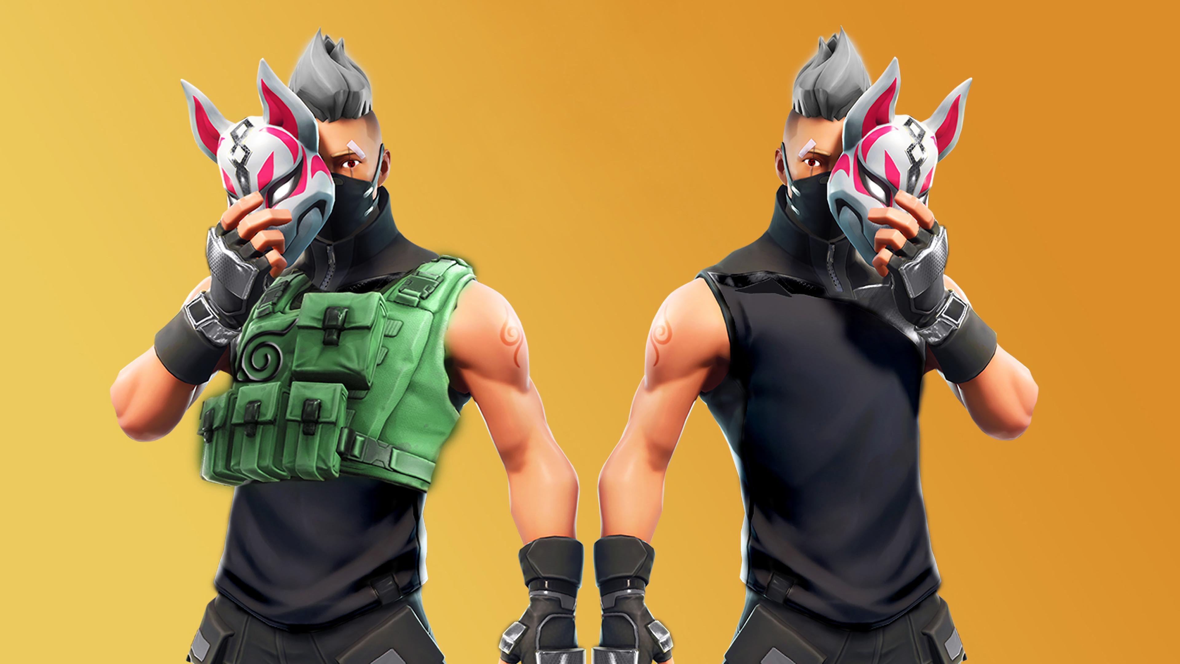 Kitsune Mask Fortnite Battle Royale Drift 4028 Wallpapers and 3840x2160