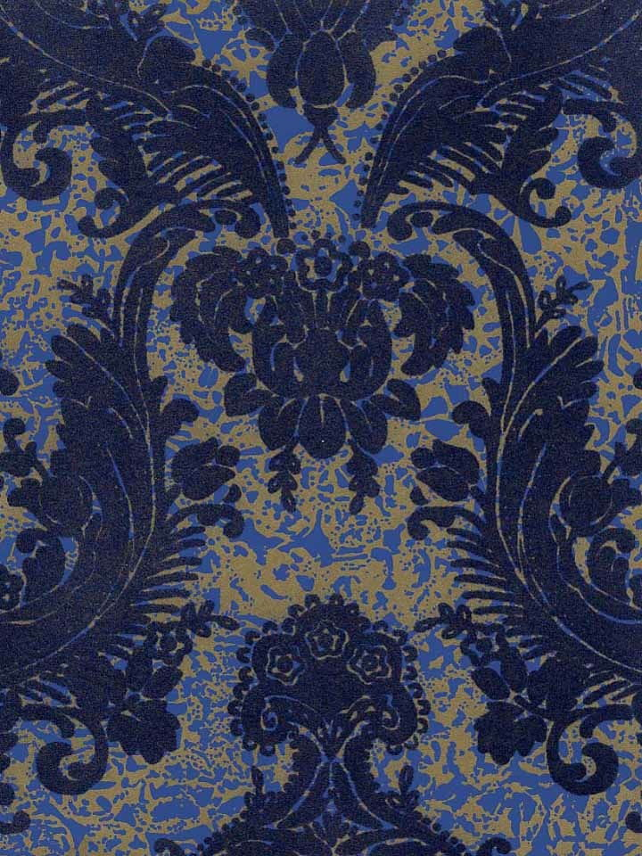 navy blue and gold wallpaper wallpapersafari. Black Bedroom Furniture Sets. Home Design Ideas
