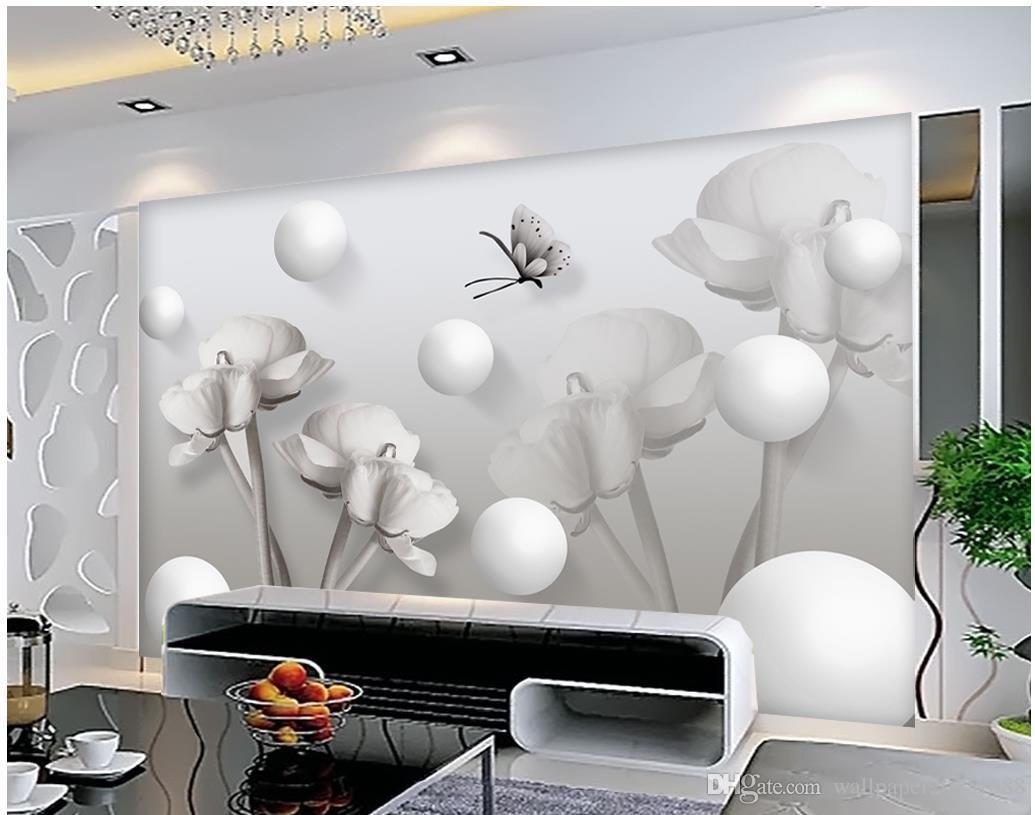 Gray Creative Flowers 3D TV Backdrop Mural 3d Wallpaper 3d Wall 1035x815