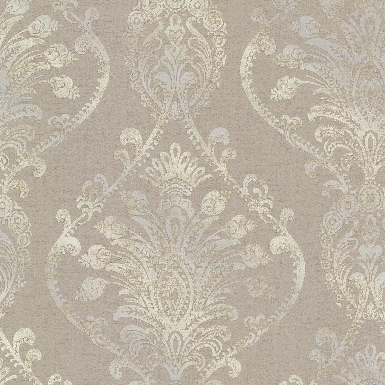 Brewster 2665 21458 Avalon Noble Taupe Ornate Damask Wallpaper 1280x1280