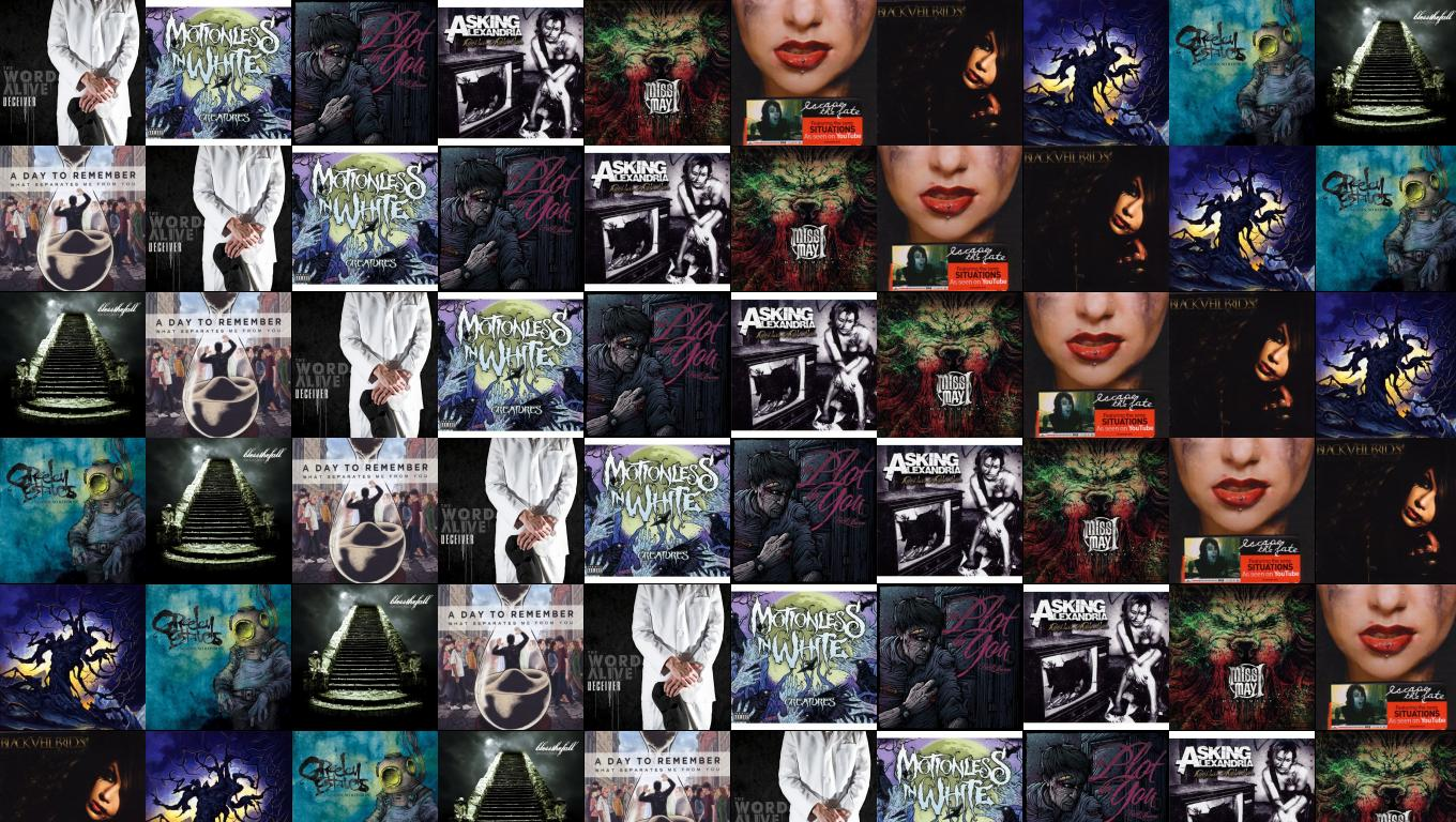 The WOrd Alive Deceiver Motionless In White Creatures Wallpaper 1360x768