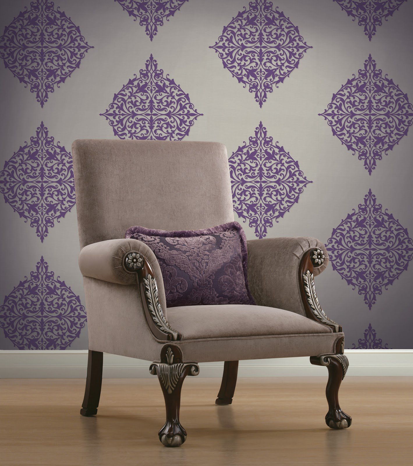 Brewster Island Grey Faux Grasscloth Wallpaper Fd23285: Large Medallion Wallpaper