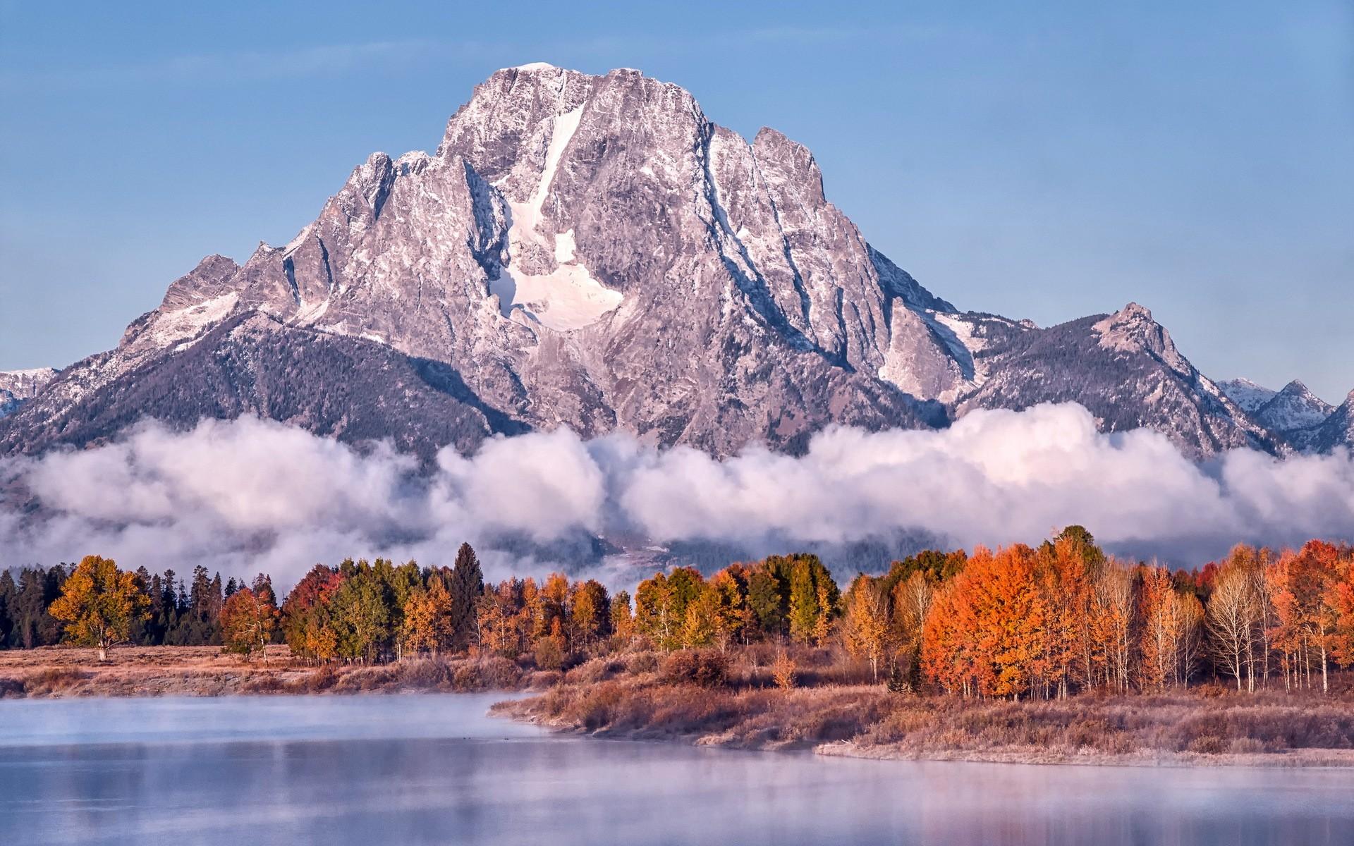 Free Download Hd Montagne Automne Lac Feuille Arbre Rouge